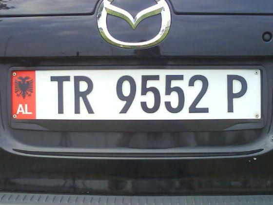 albania licence plate