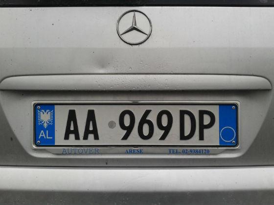 albania license plate