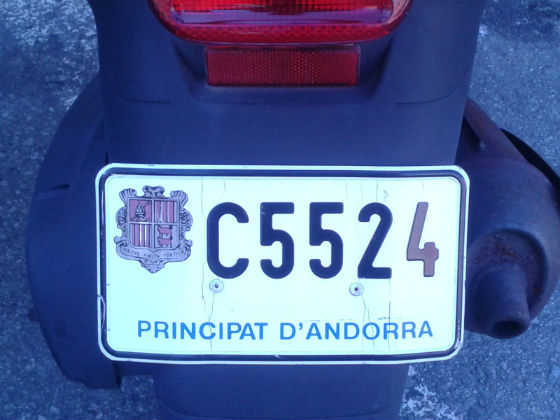 andorra license plate