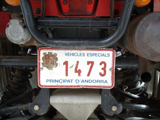 andorra license plate