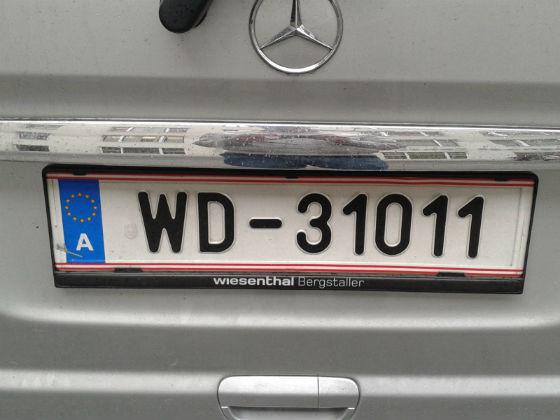 austria licence plate