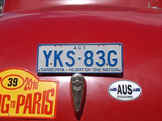 australia australian capital territory license plate