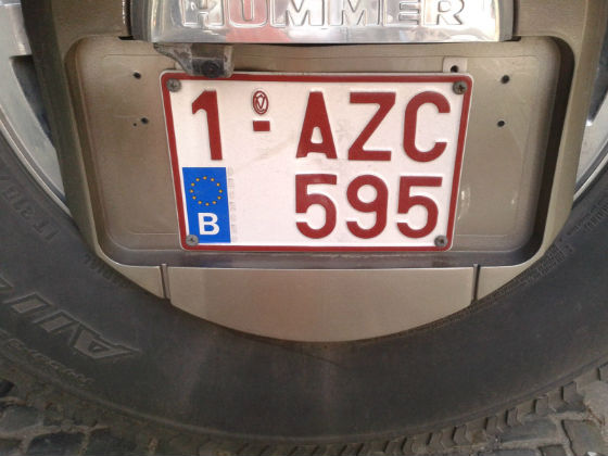 belgium license plate