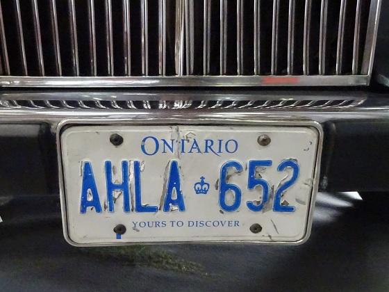 canada ontario license plate