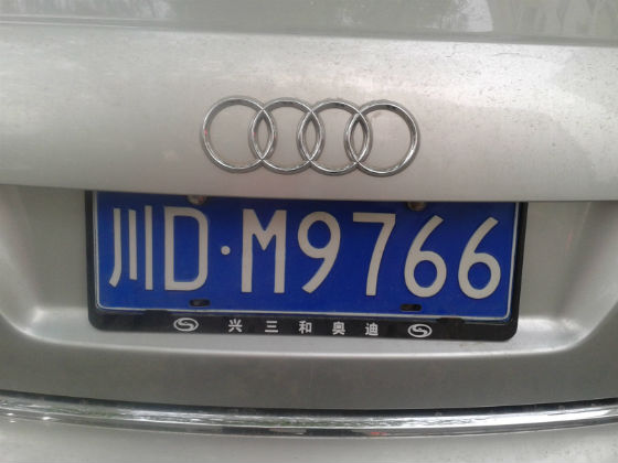 china license plate