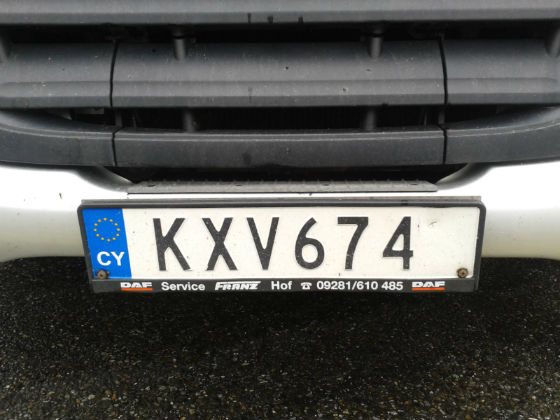 cyprus license plate