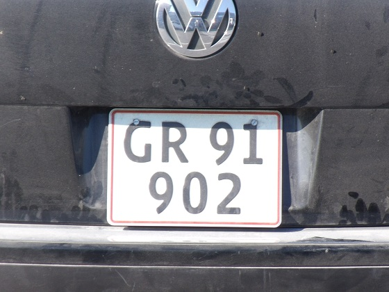 greenland license plate