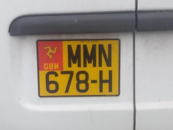 isle of man license plate