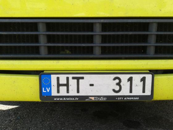 latvia license plate