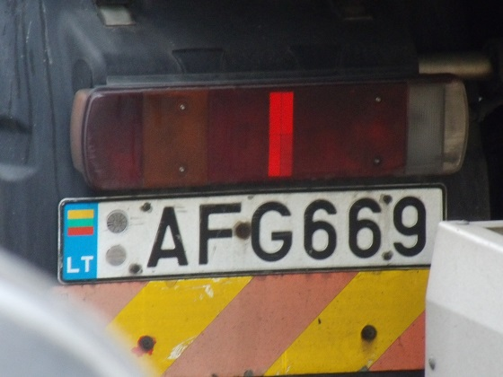 lithuania license plate