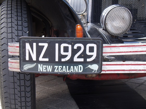 new zealand license plate