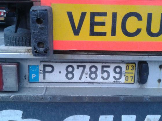 portugal license plate