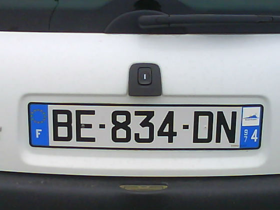 reunion licence plate