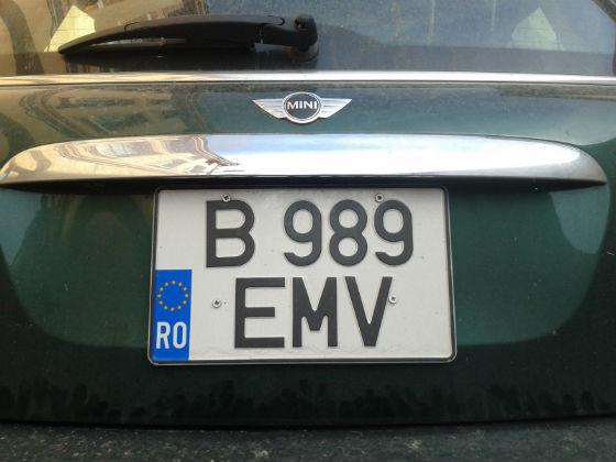 romania license plate