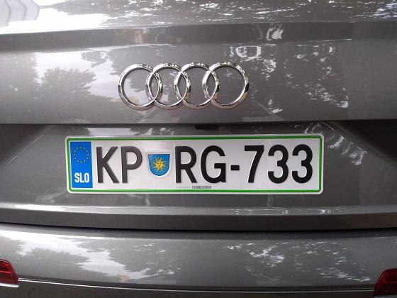 slovenia license plate