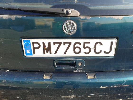 spain license plate