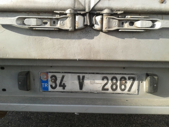 turkey license plate