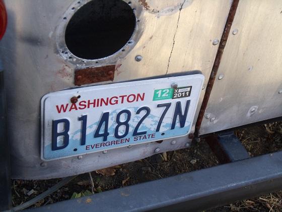 united states washington license plate